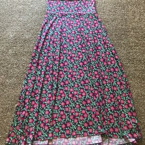 Floral Patterned LuLaRoe Maxi Dress